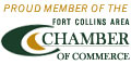 Proud Member of the Chamber of Fort Collins Area Commerce