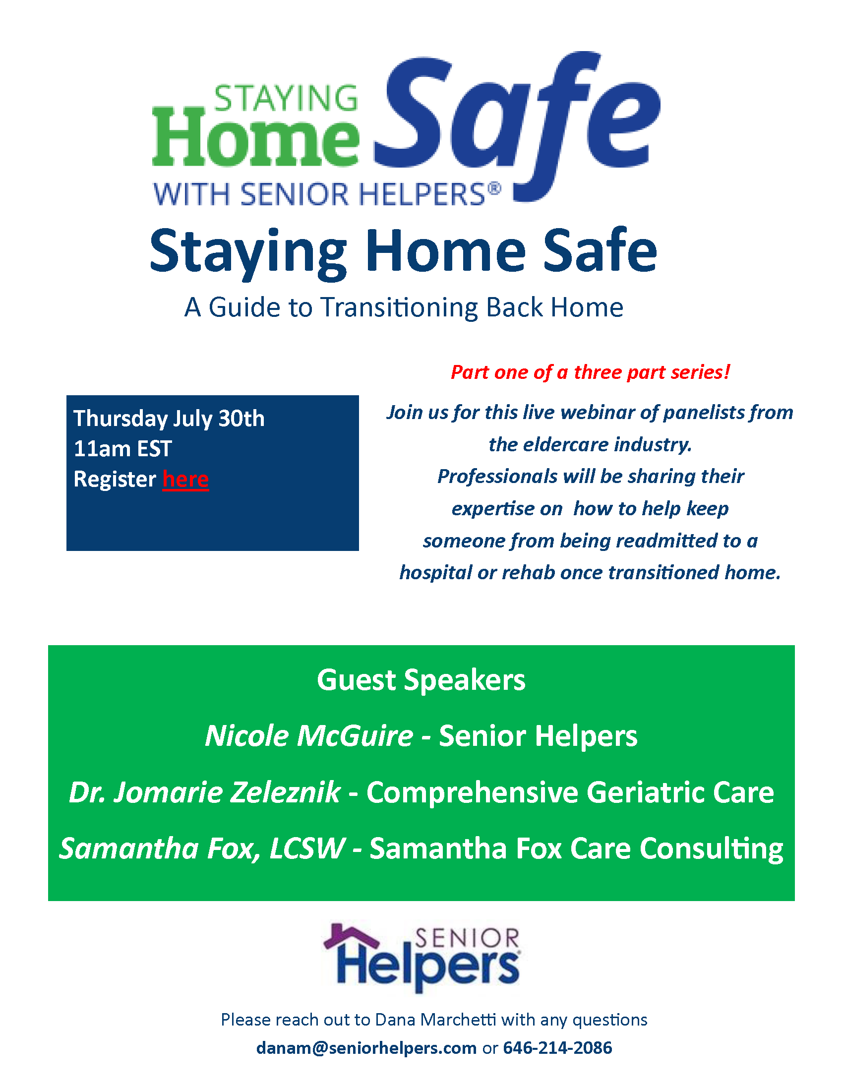Staying Home Safe Webinar for Senior Helpers New York City